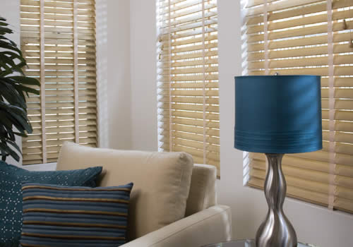 Wood Venetians with tapes