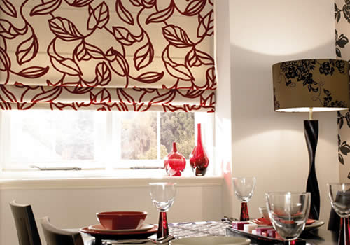 Roman blinds in peruvian flame