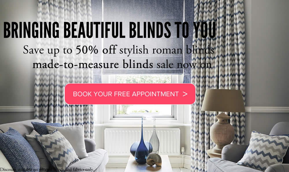 Roman blinds made to measure from VBS Centurion Blinds