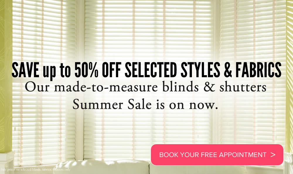 Image of Made to measure roman blinds in summer sale promotion