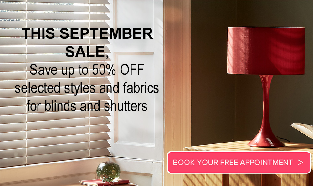 Image of Made to measure roman blinds in September Sale promotion